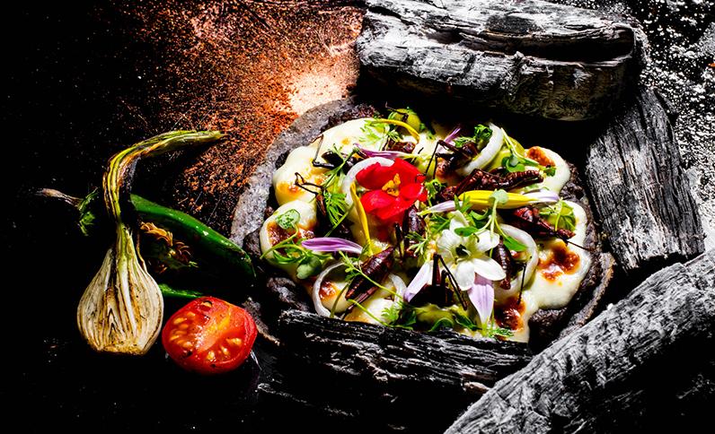Grand Velas Riviera Nayarit Restaurants - Tlayuda de Maiz Azul Gratinada