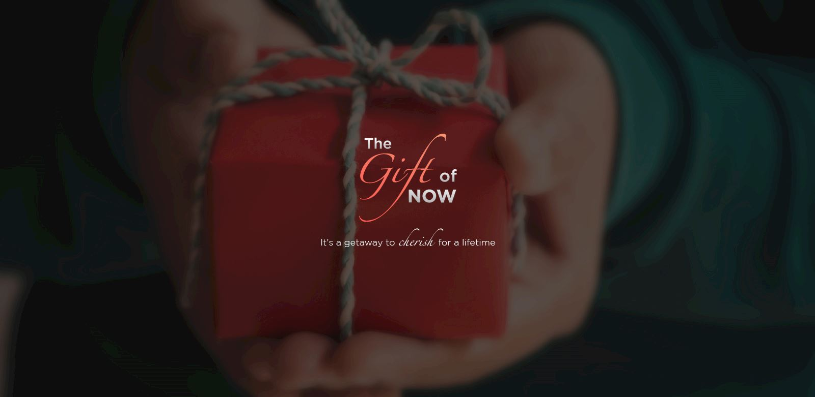 the gift of now banner