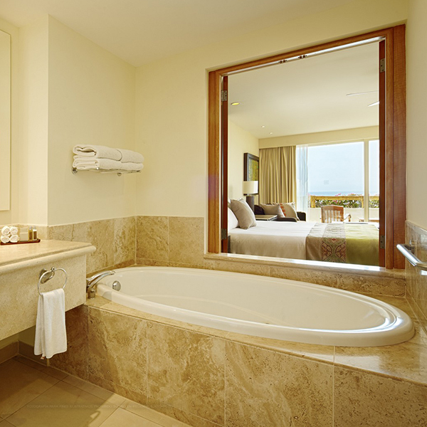 Master Queen Suite Offering Bath Amenities at Grand Velas Riviera Nayarit