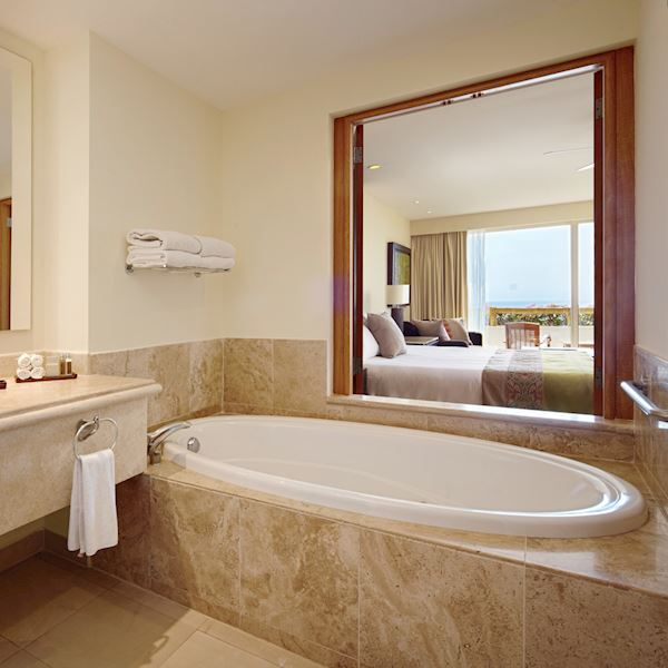 Master Suite Ocean Front Offering Bath Amenities at Grand Velas Riviera Nayarit