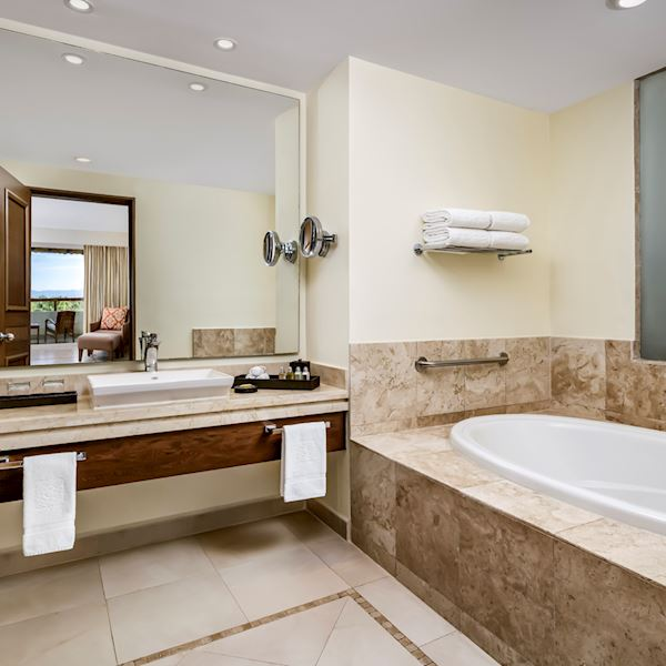 Two-Bedroom Family Suite Offering Bath Amenities at Grand Velas Riviera Nayarit